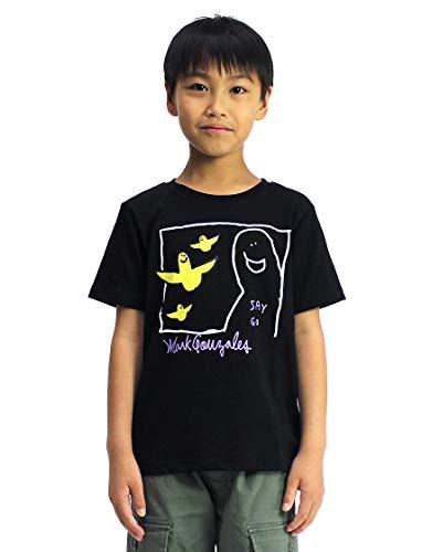 [Mark Gonzales] Tシャツ マーク・ゴンザレス エンジェル KIDS (120, ブラック)