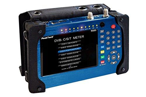 Peaktech P 9020 - Misuratore Dvb con Sc/C/T/T2 con Schermo a Colori Tft da 12,5 Mm e Immagine e Suono in Diretta, Test del Sistema Tv, Dispositivo di Ricerca del Segnale Satellitare, Hdmi, 780G