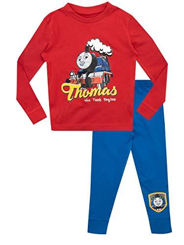 Thomas und seine Freunde Jungen Thomas die kleine Lokomotive Schlafanzug Slim Fit Rot...