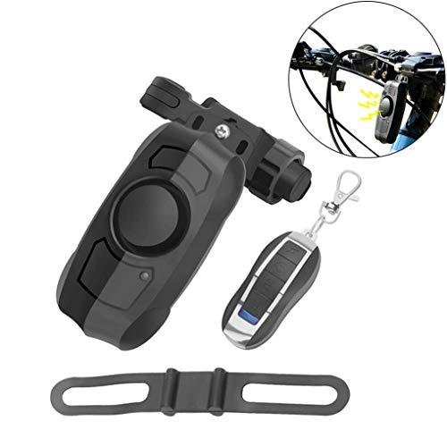 GuDoQi Fahrrad Alarm USB Wiederaufladbar mit 110dB lauter Hupe, Drahtlos Diebstahlschutz Vibration Fahrradalarm mit Fernbedienung, für Outdoor-Sportreisen