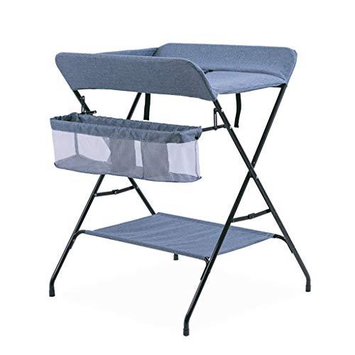 JALAL Klappbarer Wickeltisch mit Aufbewahrung, Kindergarten-Umkleidekabinen-Kommode-Organisator für Säuglingskreuzbein-Stil