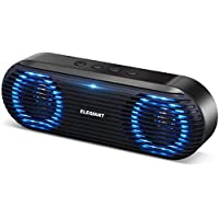 Elegiant Portable Bluetooth 5.0 Speaker with Stereo Sound bass