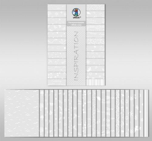 Transparentpapier-Block DIN A4, White Line [Spielzeug]