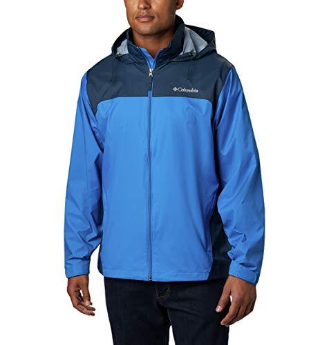 Columbia Men's Glennaker Lake Front-Zip Jacket, Blue Jay/Columbia Navy, X-Large