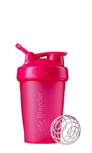 BlenderBottle Classic Shaker Bottle Perfect for Protein Shakes and Pre Workout, 20-Ounce, Pink