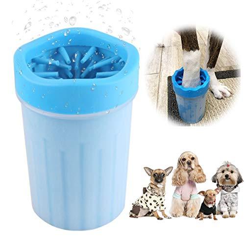 Hunde Pfotenreiniger, Hundepfoten Reiniger, Haustier Pfotenreiniger, Hundepfote Fußreinigungsbürste, Tragbarer Hunde Pfote Reiniger, Dog Paw Cleaner, Hunde Katzen Massage Pflege Schmutzige Klauen