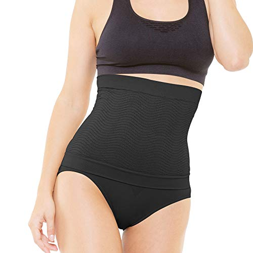 BEAUTYTHERM - Women's Slimming Tummy Slimming Sheath - Shaping and Sculpting - 3D Anti-Cellulite Knitting - Cosmétotextile Slimming with Micro-Encapsulated Marine Actives - Black/Green -  Black - L/XL