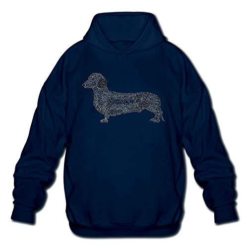 Chansy Dachshund Doxen Weiner Word Art Dog Owner Gift - Sudadera con capucha para hombre