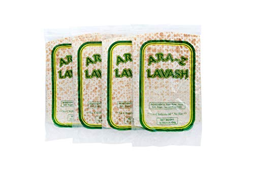 ARA-Z Lavash Flat Bread 4 Packs of 4 (16 Total) No Cholesterol, Fat Free, Vegan, Kosher