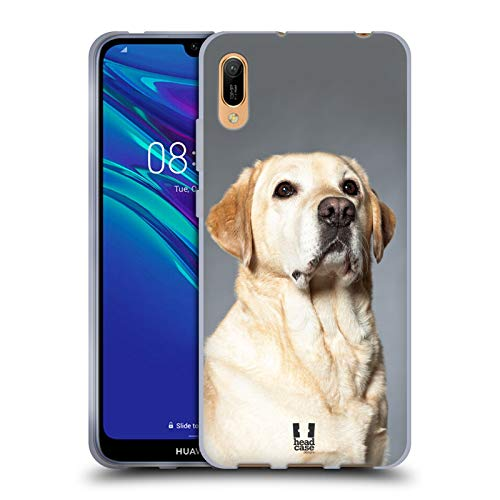 Head Hülle Designs Blonder Labrador Retriever H& Beliebteste H&erassen Soft Gel Handyhülle Hülle Huelle & Passende Designer Hintergr&bilder kompatibel mit Huawei Y6 Pro (2019)