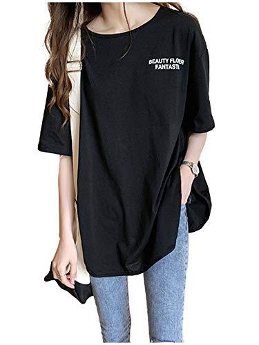 [ライオンガーデン] LG140 BK M 黒色 黒 くろ クロ ブラック 清楚 ビッグt tシャツ シャツ ブラウス ラウンドネック 3色展開 ビッグシルエット ゆるカジ オーバーサイズ ~ 2XL レディース カジュアル ビッグ オーバー 大きめ おおきめ 大きい おおきい 大 大きいサイズ サイズ 体型カバー 体形カバー 体形 カバー 体型 3色 清潔感 おしゃれ オシャレ すっきり
