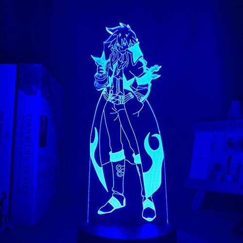 Luz De Noche 3D Luz De Noche Led Anime Gurren Lagann Simon, Utilizada En La Decoración Del Dormitorio Tengen Toppa Gurren Lagann Acrílico Cumpleaños Para Niños Regalos De Navidad