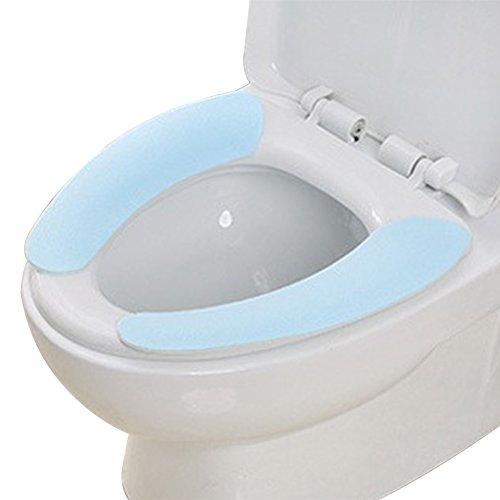 Kentop Cojín de Asiento de Inodoro Autoadhesivo Inodoro Universal Almohadillas Pegando Taza del Váter