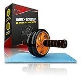 Rocstack® Rodillo abdominal con alfombrilla de goma antideslizante para las rodillas, cómoda bicicleta estática