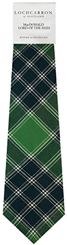 I Luv Ltd Gents Neck Tie MacDonald Lord Of The Isle Tartan Lightweight Scottish Clan Tie