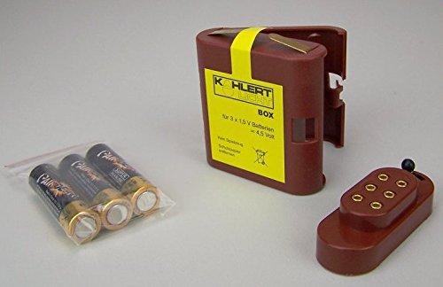 Beleuchtungsset Batteriebox+Batteriekappe+3 AAA Batterie. Krippenelektrik