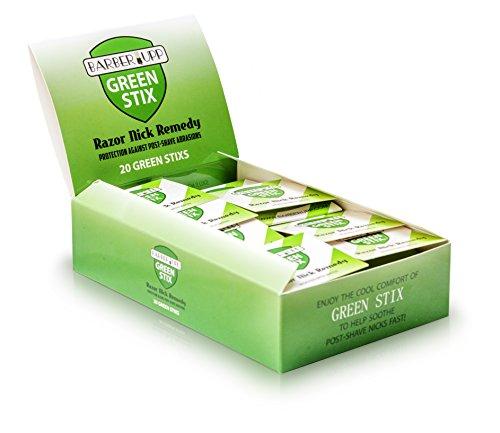 BARBERUPP Styptic Stick Shave Accessories (Green Stix, Bulk 30 Pack)...