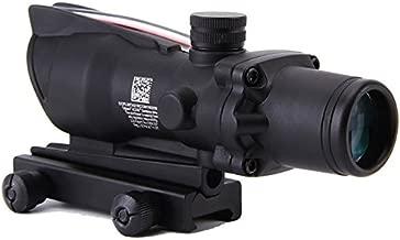 FOLEY 4X32 Rifle Scope ACOG Style Lighted Illuminated Reticle Fiber Source