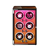 ZNND Watch Caja De Relojes Autornaticos con Motor Silencioso 5 Modos Diferentes Rotación Ajustables con Luces De Colores para Hombres Y Mujeres (Color : D)