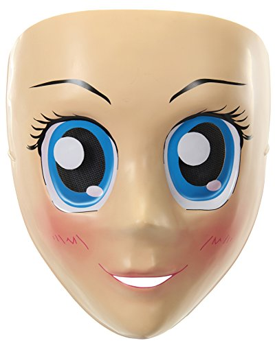 elope Women's Blue Eyes Anime Adult Funny Cosplay Halloween Costume Mask