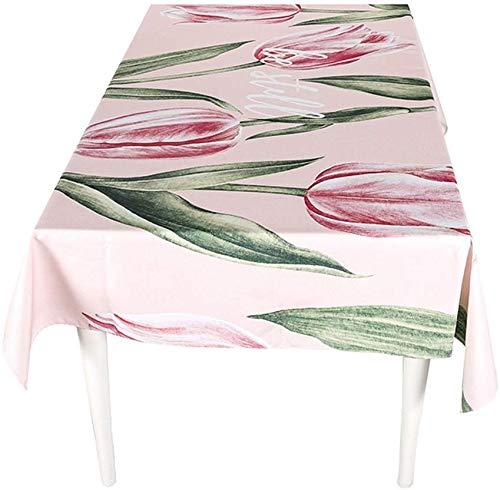 ZXL creatief tafelkleed, bloemen, plant, restaurant, woonkamer, tafelkleed, eettafel, bureau, bedrukt, rechthoekig, 85-240 cm (kleur: C, maat: 140 x 100 cm)