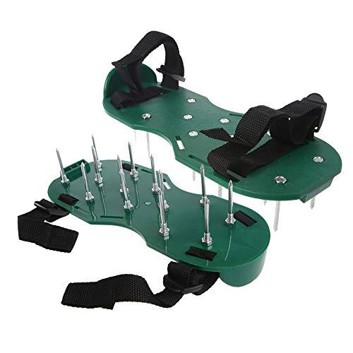 LQKYWNA 1 Par De Zapatos De Escarificación con Bandas Y Uñas Elásticas, Cultivador De Césped para Jardín, Escarificador, Césped, Aireador, Herramienta para Zapatos De Uñas
