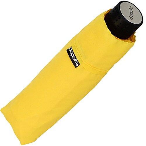 Doppler Regenschirm Mini- Taschenschirm Havanna Stick - sturmfest Uni gelb