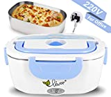 Electric Lunch Box Heating Lunch Box Food Warmer Lunch Box with 1.5L Detachable Stainless Steel Food Container...