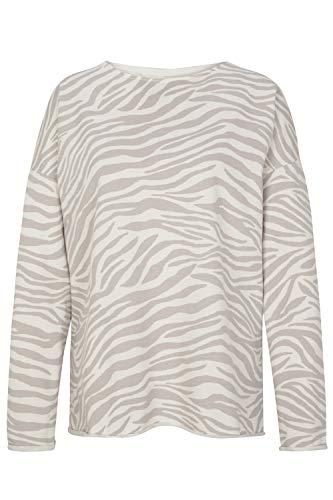 Juvia Damen Sweatpullover mit Zebramuster Ecru - XS