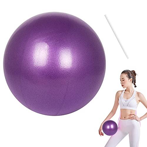 Yoga Fitness Ball, 1PCS MOCOBO 25cm/9.8 inch Morbida Pilates Anti Burst Esercizio Palla Con Cannuccia Gonfiabile (viola)