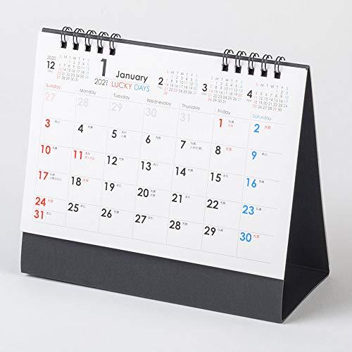 ムトウユニパック 2021年 カレンダー 卓上 実用性抜群! LUCKY DAYS MU-103 B6