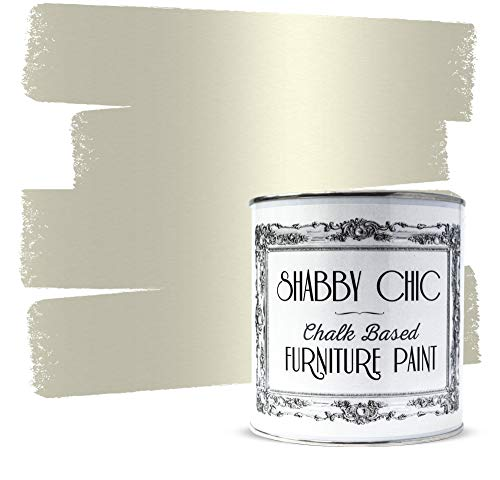 Shabby Chic Chalked Furniture Paint: Luxurious Chalk Finish Furniture and Craft Paint for Home Decor, DIY Projects, Wood Furniture - Interior Paints Rustic Matte Finish - 8.5oz - Antique Champagne