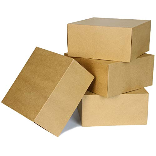 15 PCS Brown Kraft Gift Boxes for Christmas, Holidays, Birthdays, Weddings, Crafts, Fathers Day, Care Packages and More
