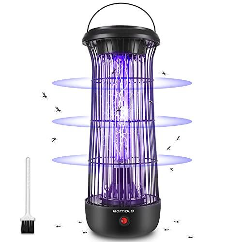Qomolo Lampe Anti Moustique Electrique, UV Moustique Killer 12W Moustique Tueur Lampe,Intérieur Destructeur de Moustique Anti Insectes Zapper Répulsif, Mites, Efficace Portée 60m²