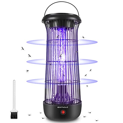 Qomolo Lámpara Anti Mosquitos Electrico, Mata Mosquitos Killer, 12W UV Luz Lampara...