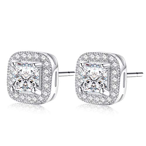 Forever Love 18k Gold Plated Womens Cubic Zirconia Stud Earrings Crystal Wedding Jewellery ¡