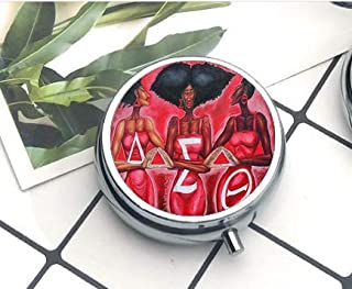 Compact 3 Compartment Medicine Case, Pill Box for Pocket or Purse Pill Box Decorative Pill Case with Gift Box Sorority Fraternity Organization Delta Sigma Theta Symbol 4 The Pill Box/Pill case