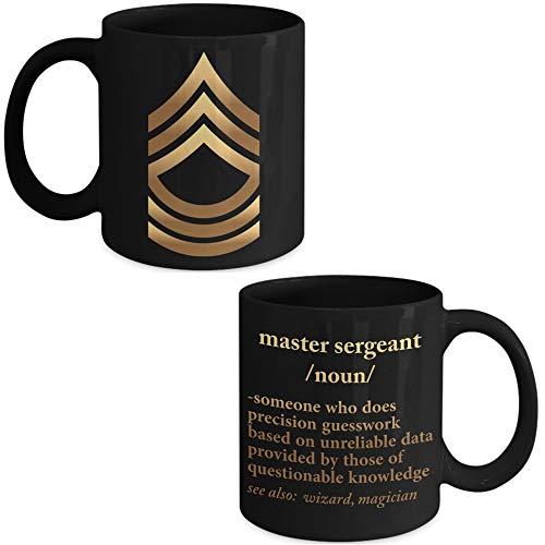 Lplpol Army Master Sergeant Definition – US Army Master Sergeant Kaffee Kaffee Tee Tasse – Master Sergeant Werbegeschenke – Promoted to Master Sergeant Presents
