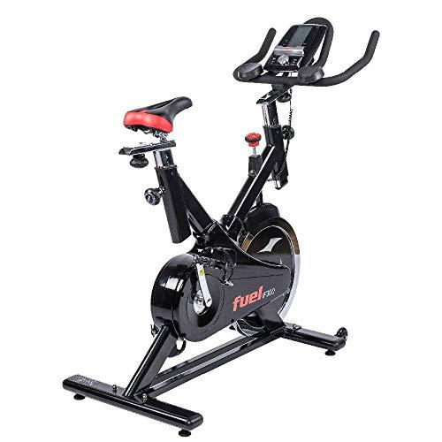 Fuel Fitness IF300 Indoor Cycle, Spin Indoor Cycle für zuhause, 18kg Schwungrad, Kettenantrieb, LCD-Radcomputer mit App-Anbindung, optimaler Rundlauf, Nutzergewicht bis 125kg