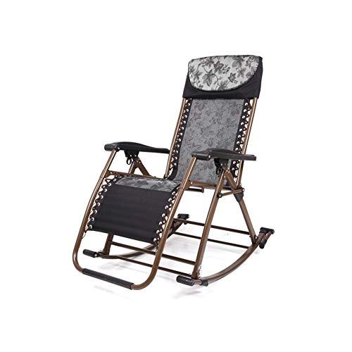 Klapp Schaukelstuhl Schwerelosigkeit Recliner Geeignet für Veranda Garten Deck Rasen Camping Tragbaren Stuhl,Blue