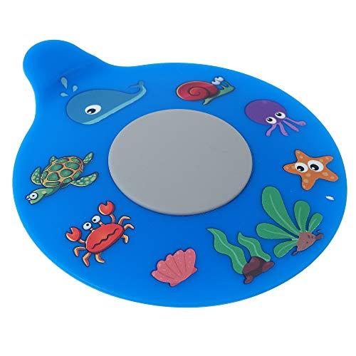 WSZCML Bathtub Drain Stopper, Silicone Tub Stopper Plug, Universal Bath Drain Cover, Kids Tots Babies Gift (Blue Turtle)
