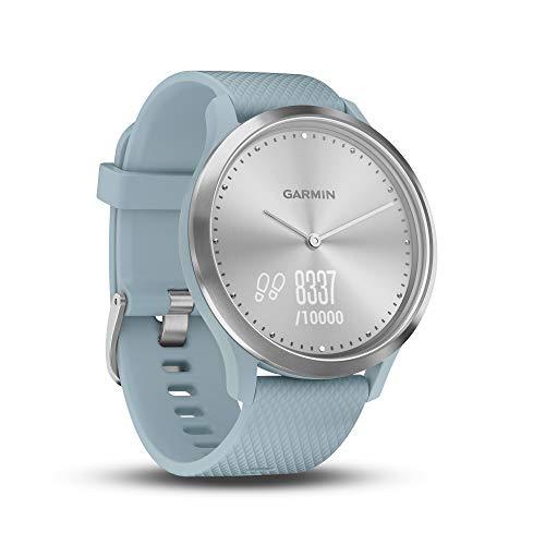 Garmin vívomove HR - Elegante reloj inteligente híbrido con monitor de actividad, azul claro
