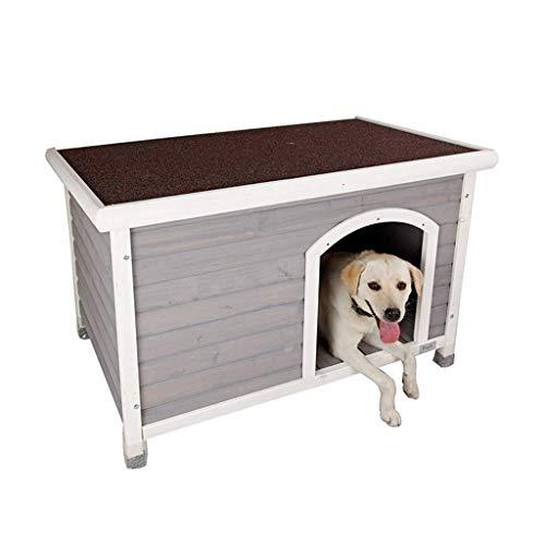 Kennel esterna in legno Dog House Grande impermeabile lavabile Dog House Indoor Cat Guinea Pig Puppy Casa repellente della zanzara Facile regalo pulito per