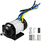BestEquip 1200W 48V Brushless Motor 600 RPM Electric Gear Motor 31.5A Gear Reduction Motor BLDC with Mounting Bracket for GoKart Tricycle
