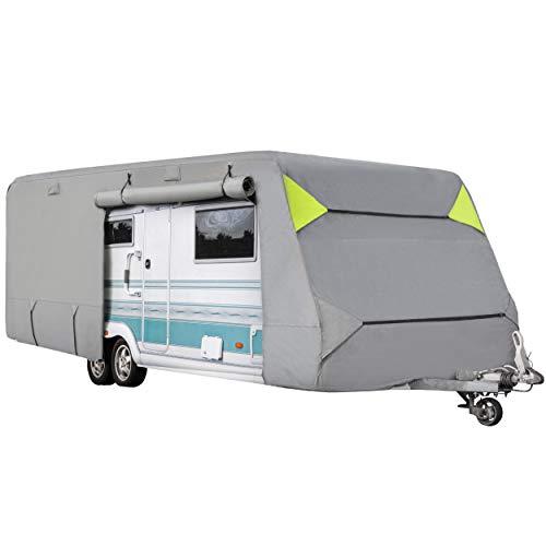 ONVAYA® Wohnwagen-Schutzhülle | Abdeckung fürs Wohnmobil | atmungsaktive Abdeckplane | Wind- und wetterfest (730 x 250 x 220 cm)
