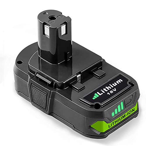 P102 Replacement Battery with LED Compatible with Ryobi 18V ONE+ P103 P104 P105 P107 P108 P109 P122 18 Volt Cordless Power Tools Battery (1 Pack)