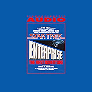 Star Trek: Enterprise, the First Adventure (Adapted) audiobook cover art