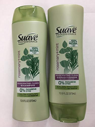Suave Professionals Shampoo and Conditioner Set 12.6 Oz Ea. (Rosemary and Mint)