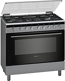 Siemens 90 X 60 Cm 5 Burners Gas Cooker With Cooling Fan, Silver - HG2I1TQ50M, 1 Year Warranty