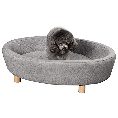 Pawhut Sofá Cama para Mascotas Perros Pequeños Medianos Gatos con Cojín Acolchado extraíble...